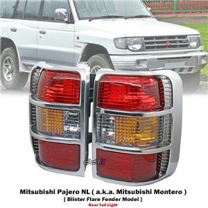1 Pair Rear Tail Light Lamp For Mitsubishi Pajero Montero NL Wide Body 1998-99