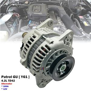 100A Alternator For Nissan Patrol GU Y61 1998-09 4.2L TD42 Diesel 23100-0W802