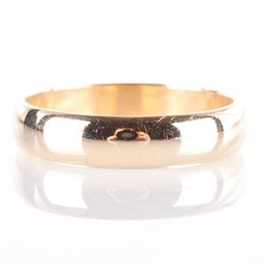 Men's Traditional 14k Yellow Gold Wedding / Anniversary Band 4.4g Size 10.5