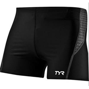 TYR Competitor Square Leg Boxer Swimsuit Black/Grey