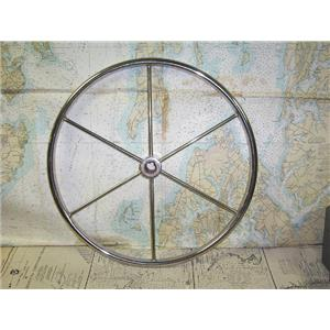 "Boaters' Resale Shop of TX 1707 1224.04 STAINLESS 20"" STEERING WHEEL - 1"" SHAFT"