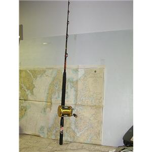 Boaters' Resale Shop of TX 1707 0721.14 PENN INTERNATIONAL 50W REEL ON 6 FT. ROD