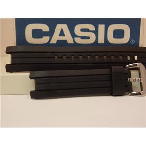 Casio Watch Band ERA-100 Black Resin Strap/Edifice Tachymeter ERA100. Watchband