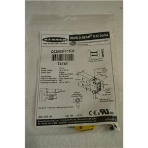 New BANNER Q12AB6FF15Q5 74141 Miniture Proximity Sensor