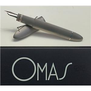 """Omas 360 Titanium Classic T-1 Prototype """"Prototipo"""" Fountain Pen 18k M Nib Rare!"""