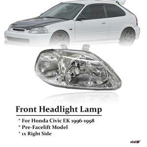 Right Chrome Housing Headlight Lamp For Honda Civic EK3,4,9 96-98 PreFacelift
