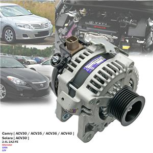 100A Alternator For Toyota Camry Altise Ateva Sportivo ACV40R 2AZ-FE 2.4L 02-11