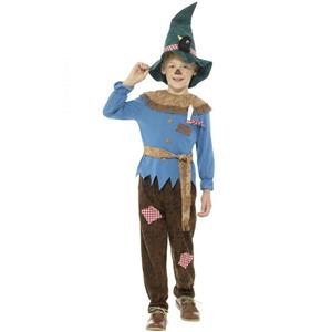 Smiffy's Patchwork Scarecrow Child Costume Boy's Size Large 10-12