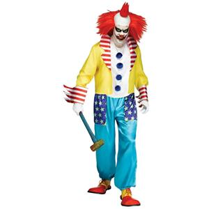 Fun World Men's Wicked Clown Master Adult Costume Standard Size