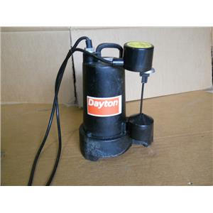 dayton 3/4 HP Submersible Sump Pump Vertical Switch Type Cast Iron Base Material