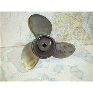 Boaters' Resale Shop of TX 1708 3201.22 STAINLESS 3 BLADE 14.5RH19 PROP 389924