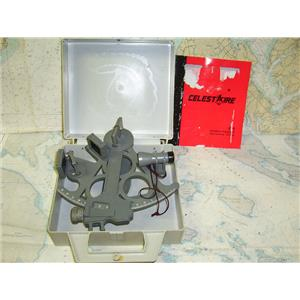 Boaters' Resale Shop of TX 1707 2145.01 DAVIS MARK 25 SEXTANT & CELESTAIRE BOOK