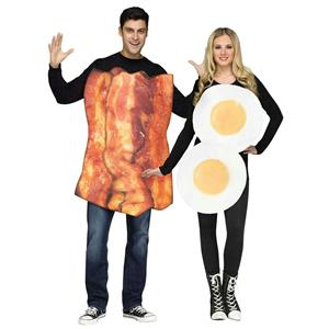 Bacon & Eggs Adult Costumes YOU GET BOTH COSTUMES! Couple Costume Combo