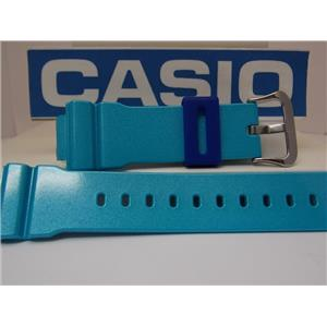 Casio Watch Band DW-6900 CB-2V Blue Glossy Strap G-Shock Original Watchband