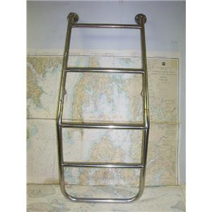 Boaters' Resale Shop of TX 1707 1224.02 ISLAND PACKET STYLE 5 STEP SS LADDER