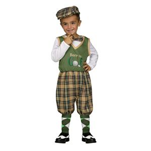 Fun World Retro Lil Golfer Baby Toddler Costume Small 24 months-2T Born to Golf