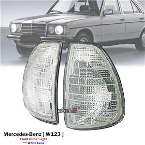 1 Pair White Front Corner Light Lamp For Mercedes Benz W123 230E 280E 1976-85