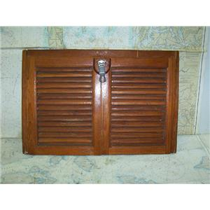 Boaters' Resale Shop of TX 1701 2042.37 WOODEN LOUVERED COMPANIONWAY BOARD