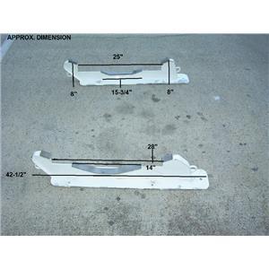 """Boaters' Resale Shop of TX 1709 1177.41 SET OF UMT 42-1/2"""" DINGHY DECK CHOCKS"""