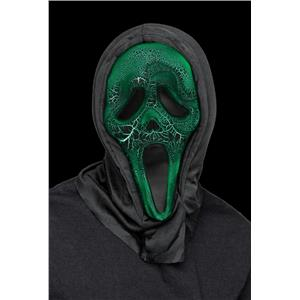 Fun World Smoldering Fx Light Up Green Ghost Face Halloween Costume Mask