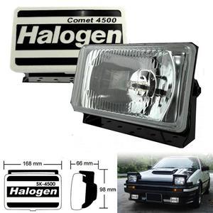1 pair Comet Series 4500 Clear White Lens Driving Spot Lights Fog Lamp 12V