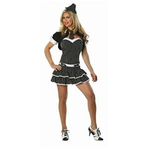 Delicious Women's Criminal Intent Sexy Adult Gangster Costume M/L 6-10