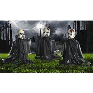 Set of 3 Zombie Baby Yard Stakes Halloween Decoration Props