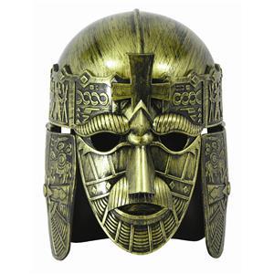 Forum Halloween Cosplay Gold Full Face Medieval Warrior Costume Helmet Mask