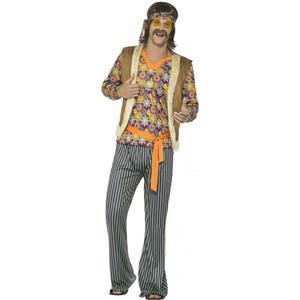 Smiffy's Mens 60s Hippie Singer Adult Costume Size Medium 70s Groovy Retro Dude