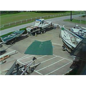 Boaters' Resale Shop of TX 1710 4105.22 GREEN 11 FT. x 13 FT. BOOM TENT COVER