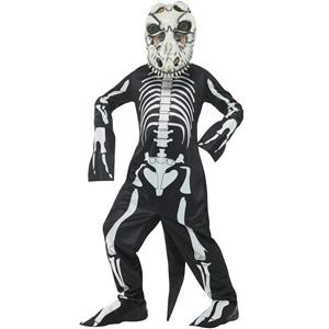 Smiffy's Deluxe T-Rex Skeleton Child Costume Boy's Size Large 10-12