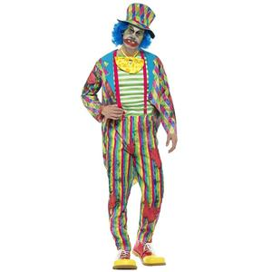 Smiffys Men's Deluxe Patchwork Clown Adult Costume Size Large