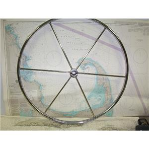 """Boaters' Resale Shop of TX 1709 2741.01 STAINLESS STEEL 28"""" WHEEL FOR 1"""" SHAFT"""