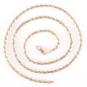 "14k Yellow Gold Italian Made Rope Chain / Necklace 20.0"" Length 15.3g"