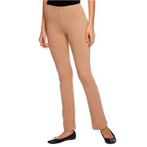 Susan Graver Size 2X Tan Weekend Stretch Cotton Leggings