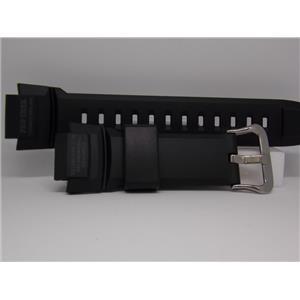 Casio Watch Band PRG-270 Black Resin Strap. Protrek Tough Solar Watchband.