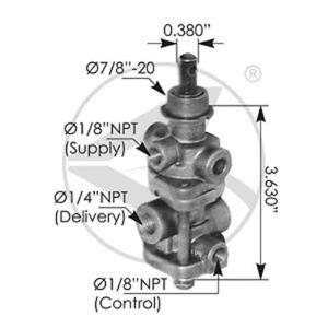 PP7 dash control valve Air brake replaces Bendix 288239
