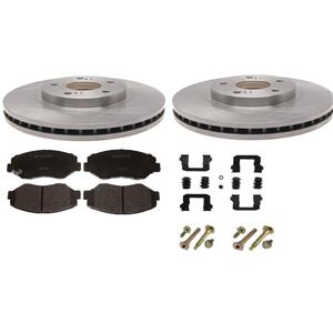 Brake Pad Rotor kit Honda Civic front 2006-2011 Ceramic pads rotors & hardware