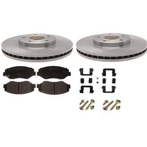 Disc Brake Pad Rotor Kit Honda Pilot 2003-2008 REAR CERAMIC Pads Rotors Hardware