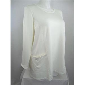 Susan Graver Weekend Size 3X Antique White Brushed Back Knit Tunic