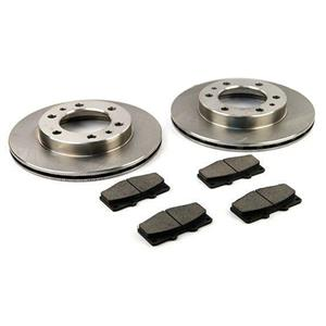1~Pair 2 Front Disc Brake Rotors + Pads Toyota Hilux IFS 88-97 LN107 RN106 YN106