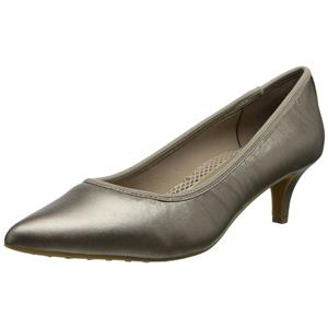 Sz 9 NIB Easy Spirit Women's Liria Dress Pumps/Point Toe Heels in Gold Leather
