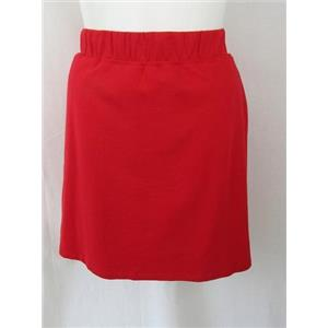 Quacker Factory Size 1X Red French Terry Comfort Waist Skort