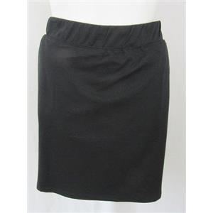 Quacker Factory Size 1X Black French Terry Comfort Waist Skort