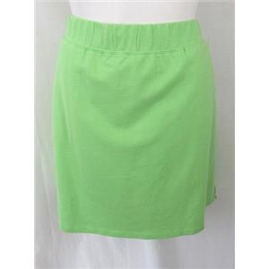 Quacker Factory Size 1X Lime French Terry Comfort Waist Skort