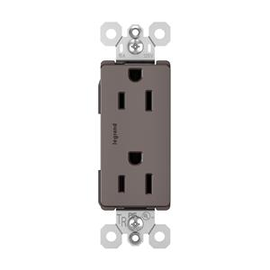 Legrand Pass & Seymour 885TR Brown Tamper-Resistant 15A Duplex outlet 10pack