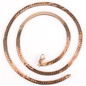 """14k Yellow Gold Italian Made Herringbone Chain 17.75"""" Length 13.07g"""