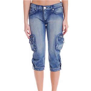 26 NWT Authentic Rock & Republic Jeans Keri Lowrise Straight Sedition Cargo Crop
