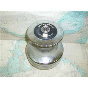 Boaters Resale Shop of TX 1711 0757.02 LEWMAR 44 CHROME PLATED 3 SPEED WINCH