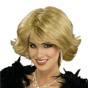 Celebutante Short Flippy Blonde Glamorous Diva Wig with Bangs